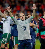 9th October 2017, Cardiff City Stadium, Cardiff, Wales; FIFA World Cup Qualification, Wales versus Republic of Ireland; Republic of Ireland manager Martin O'Neill celebrates at full time