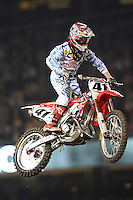 01/22/11 Los Angeles, CA: Trey Canard during the1st ever AMA Supercross held at Dodger Stadium.