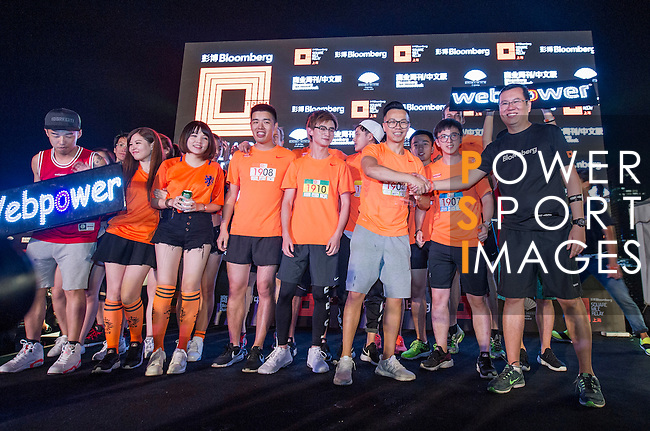 Awards ceremony at the Bloomberg Square Mile Relay near the Huangpu River in Shanghai, China.  Photo by Lucas Schifres / Power Sport Images