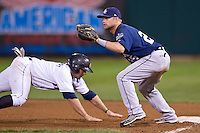 August 7,2010 Brett Carroll (25) in action during the MiLB game between the New Orleans Zephyrs and the Colorado Springs Sky Sox at Security Service Field in Colorado Springs Colorado.