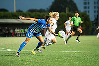 Allston, MA - Wednesday Sept. 07, 2016: Kyah Simon, McCall Zerboni during a regular season National Women's Soccer League (NWSL) match between the Boston Breakers and the Western New York Flash at Jordan Field.