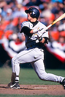 SAN FRANCISCO, CA - Craig Biggio of the Houston Astros in action during a game against the San Francisco Giants at Candlestick Park in San Francisco, California on April 7, 1998. Photo by Brad Mangin