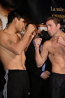 Montreal (QC) CANADA- Dec 10 2009- Official Weighting before Dec 11 Fight :<br /> Ramon Pedro Moyano <br />  , Eric Lucas