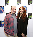 """Liam Craig and Jodie Markell attends the cast Photocall for the Keen Company's Production Of A.R. Gurney's """"Later Life"""" on February 9, 2018 at the Art/NY Bruce Mitchell Studio in New York City."""