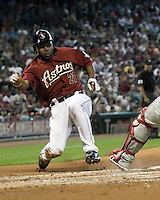 Bourn, Michael 6258.jpg Philadelphia Phillies at Houston Astros. Major League Baseball. September 6th, 2009 at Minute Maid Park in Houston, Texas. Photo by Andrew Woolley.