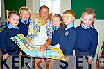 Teacher Sheila Foley with Danny Coffey, David O'Sullivan, Aoibhinn Claffey, Emmett Spillane and Kodi Coffey after they started at Tiernaboul National School, Killarney on Wednesday.