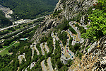 The peloton climb Lacets de Montvernier during Stage 12 of the 2018 Tour de France running 175.5km from Bourg-Saint-Maurice les Arcs to Alpe D'Huez, France. 19th July 2018. <br /> Picture: ASO/Alex Broadway | Cyclefile<br /> All photos usage must carry mandatory copyright credit (&copy; Cyclefile | ASO/Alex Broadway)