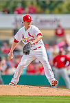 2 March 2013: St. Louis Cardinals pitcher Shelby Miller on the mound during a Spring Training game against the Washington Nationals at Roger Dean Stadium in Jupiter, Florida. The Nationals defeated the Cardinals 6-2 in their first meeting since the NLDS series in October of 2012. Mandatory Credit: Ed Wolfstein Photo *** RAW (NEF) Image File Available ***