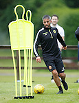 Keith Lasley putting in a shift as pre-season starts for Motherwell