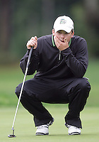 22 May, 2010:   Loyola Colleges Ryan McCarthylooks over his putt on hole ten during day three of the first round of the NCAA West Regionals at Gold Mountain Golf course in Bremerton, WA.