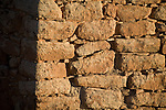 Utah, Hovenweep National Monument, Square Tower group, tower stone detail, Ancient Pueblo or Anasazi people, archeology, sunrise, U.S.A., Southwest America.