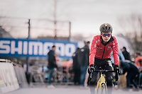 pre-race favorite Tom Pidcock (GBR/U23/Telenet Fidea Lions) at the start<br /> <br /> U23 Men's Race<br /> UCI CX Worlds 2018<br /> Valkenburg - The Netherlands