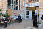 Palestinian students at El-Kuds University, in the West Bank village of Abu-Dis near Jerusalem.