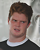 Sam Darnold #14 of the New York Jets speaks with the media after a day of training camp at the Atlantic Health Jets Training Center in Florham Park, NJ on Monday, Aug. 6, 2018.