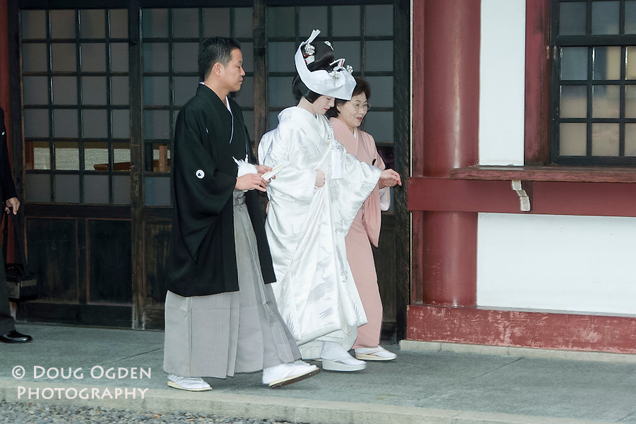 Wedding day, the bride in traditional dress,  Tokyo, Japan