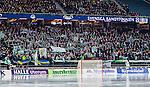 Solna 2014-03-16 Bandy SM-final herrar Sandvikens AIK - V&auml;ster&aring;s SK :  <br /> V&auml;ster&aring;s supportrar p&aring; norra l&auml;ktaren p&aring; Friends Arena under SM-finalen mellan Sandvikens AIK och V&auml;ster&aring;s SK <br /> (Foto: Kenta J&ouml;nsson) Nyckelord:  SM SM-final final herr herrar VSK V&auml;ster&aring;s SAIK Sandviken  supporter fans publik supporters