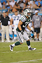 ERIC SMITH, of the New York Jets in action during the Jets game against the Carolina Panthers  at Bank of America Stadium in Charlotte, N.C.  on August 21, 2010.  The Jets beat the Panthters 9-3 in the second week of preseason games...