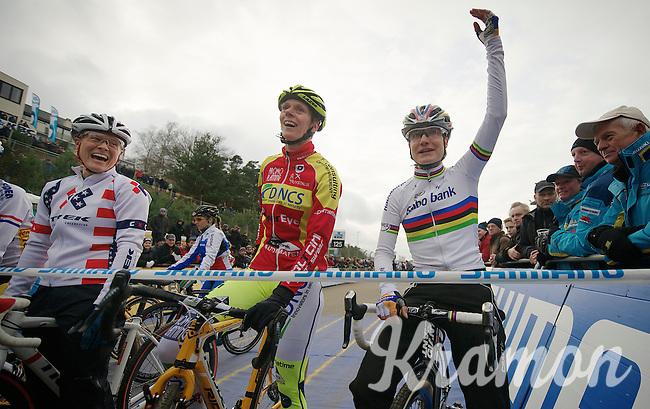 Marianne Vos (NLD) at the startline<br /> <br /> Worldcup Heusden-Zolder Limburg 2013