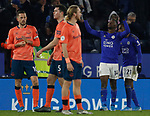 Kelechi Iheanacho of Leicester City celebrates scoring the winning goal against Everton during the Premier League match at the King Power Stadium, Leicester. Picture date: 1st December 2019. Picture credit should read: Darren Staples/Sportimage