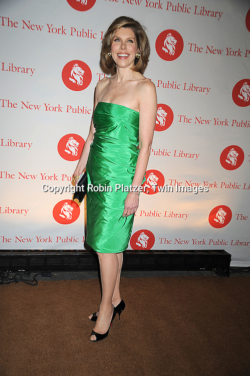 Christine Baranski in Ralph Lauren Dress..arriving at The New York Public Library 2008 Library Lions Benefit Gala on November 3, 2008 at The New York Public Library at 42nd Street and 5th Avenue.....Robin Platzer, Twin Images