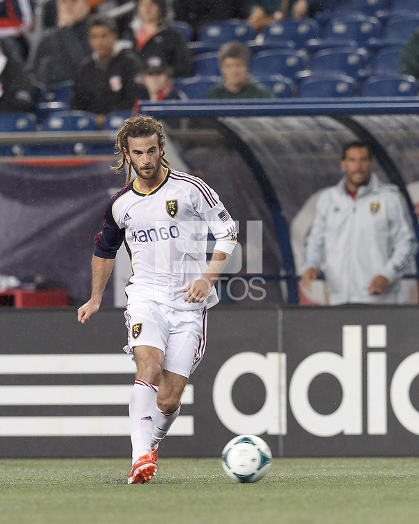 Real Salt Lake midfielder Kyle Beckerman (5) passes the ball.