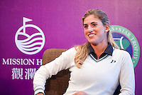 HAIKOU, CHINA - OCTOBER 28:  Spanish golfer Belen Mozo attends a press conference during the Mission Hills Star Trophy on October 28, 2010 in Haikou, China. The Mission Hills Star Trophy is Asia's leading leisure liflestyle event and features Hollywood celebrities and international golf stars.  Photo by Victor Fraile / studioEAST