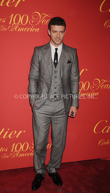 WWW.ACEPIXS.COM . . . . . ....April 30 2009, New York City....Musician Justin Timberlake arriving at the Cartier 100th Anniversary in America Celebration at Cartier Fifth Avenue Mansion on April 30, 2009 in New York City.....Please byline: KRISTIN CALLAHAN - ACEPIXS.COM.. . . . . . ..Ace Pictures, Inc:  ..tel: (212) 243 8787 or (646) 769 0430..e-mail: info@acepixs.com..web: http://www.acepixs.com