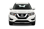 Car photography straight front view of a 2018 Nissan Rogue S 5 Door SUV Front View
