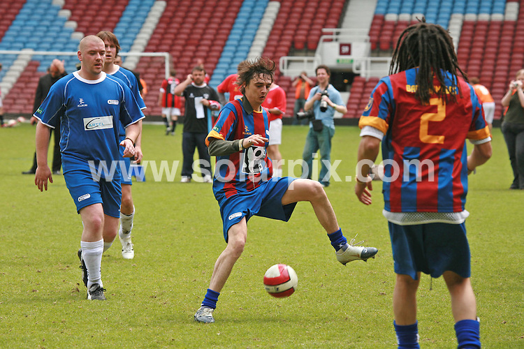 **ALL ROUND PICTURES FROM SOLARPIX.COM**.**WORLDWIDE SYNDICATION RIGHTS**.The Music Industry Soccer Six charity football with celebrity players such as Pete Doherty and Brian McFadden, Michelle Heaton, jade goody,Cassie Sumner,Bianca Gascoigne,Donnie Tourette .At the West Ham United Football Club, Bobby Moore Stand in London held on the Sunday 20_05_07..This pic:PETE DOHERTY BABYSHAMBLES.JOB REF:3961-GMT        DATE:20_05_07.**MUST CREDIT SOLARPIX.COM OR DOUBLE FEE WILL BE CHARGED* *UNDER NO CIRCUMSTANCES IS THIS IMAGE TO BE REPRODUCED FOR ANY ONLINE EDITION WITHOUT PRIOR PERMISSION*