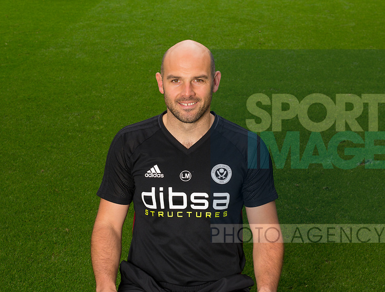 Lee McMahon of Sheffield Utd during the 2017/18 Photocall at Bramall Lane Stadium, Sheffield. Picture date 7th September 2017. Picture credit should read: Sportimage
