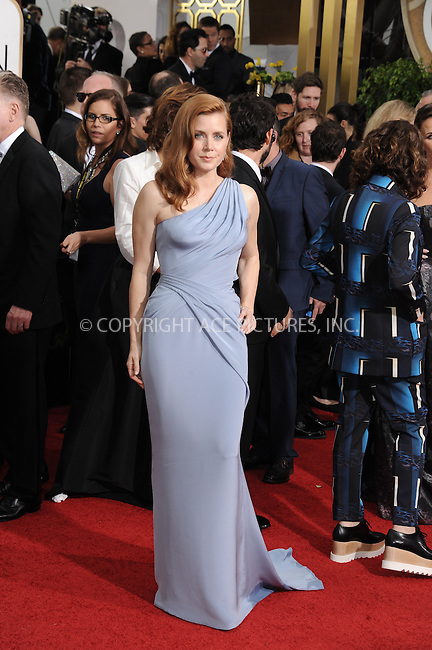 WWW.ACEPIXS.COM<br /> <br /> January 11 2015, LA<br /> <br /> Amy Adams arriving at the 72nd Annual Golden Globe Awards at The Beverly Hilton Hotel on January 11, 2015 in Beverly Hills, California<br /> <br /> By Line: Peter West/ACE Pictures<br /> <br /> <br /> ACE Pictures, Inc.<br /> tel: 646 769 0430<br /> Email: info@acepixs.com<br /> www.acepixs.com