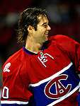 4 December 2008: Montreal Canadiens' center Robert Lang from the Czech Republic warms up prior to facing the New York Rangers for their first meeting of the season at the Bell Centre in Montreal, Quebec, Canada. The Canadiens, celebrating their 100th season, played in the circa 1915-1916 uniforms for the evenings' Original Six matchup. *****Editorial Use Only*****..Mandatory Photo Credit: Ed Wolfstein Photo