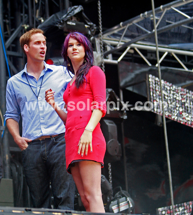 **ALL ROUND PICTURES FROM SOLARPIX.COM**.**WORLDWIDE SYNDICATION RIGHTS**.Price William & Harry were at Wembley Stadium today checking last minute preparations & watching singer Joss Stone do her sound check before tomorrows memorial concert for Princess Diana..This Pic:Prince William & Joss Stone.JOB REF:4181       SSD     DATE:30.06.07.**MUST CREDIT SOLARPIX.COM OR DOUBLE FEE WILL BE CHARGED* *UNDER NO CIRCUMSTANCES IS THIS IMAGE TO BE REPRODUCED FOR ANY ONLINE EDITION WITHOUT PRIOR PERMISSION*