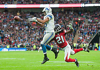26.10.2014.  London, England.  NFL International Series. Atlanta Falcons versus Detroit Lions. Lions' RB Theo Riddick [25] in action.