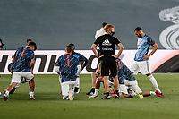 10th July 2020; Estadio Alfredo Di Stefano, Madrid, Spain; La Liga Football, Real Madrid versus Deportivo Alaves; Karim Benzema (Real Madrid)  Pre-match warm-up