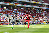 02.08.2015. Cologne, Germany. Pre Season Tournament. Colonia Cup. FC Cologne versus Valencia CF. Sofiane Feghouli almost gets Cologne's third with a powerful header from 12 yards.