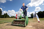 SWALEC ambassador Robert Croft visiting St Fagans Cricket Club.<br /> <br /> 24.07.13<br /> &copy;Steve Pope-Sportingwales