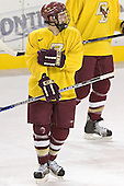 Matt Greene - Boston College's morning skate on Friday, December 30, 2005 at Magness Arena in Denver, Colorado.  Boston College defeated Ferris State that afternoon in a shootout and defeated Princeton the following night to win the Denver Cup.