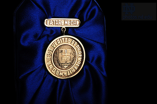 Laetare Medal, presented in 2008 to Martin Sheen..Photo by Matt Cashore/University of Notre Dame
