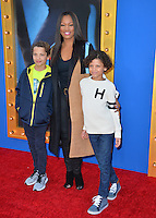 LOS ANGELES, CA. December 3, 2016: Actress Garcelle Beauvais &amp; sons Jaid Thomas Nilon &amp; Jaid Thomas Nilon at the world premiere of &quot;Sing&quot; at the Microsoft Theatre LA Live.<br /> Picture: Paul Smith/Featureflash/SilverHub 0208 004 5359/ 07711 972644 Editors@silverhubmedia.com