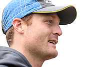 Picture by Alex Whitehead/SWpix.com - 27/05/2015 - Cricket - 2nd Investec Test: England v New Zealand - Headingley Cricket Ground, Leeds, England - New Zealand's Martin Guptill is interviewed by the media following a practice session.