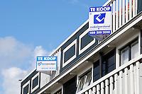 Nederland Wormerveer 2015. Woningen te koop.  Foto Berlinda van Dam / Hollandse Hoogte
