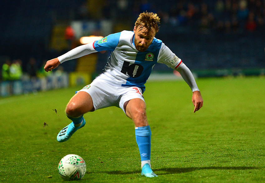 Blackburn Rovers' Christian Walton in action<br /> <br /> Photographer Richard Martin-Roberts/CameraSport<br /> <br /> The Carabao Cup First Round - Tuesday 13th August 2019 - Blackburn Rovers v Oldham Athletic - Ewood Park - Blackburn<br />  <br /> World Copyright © 2019 CameraSport. All rights reserved. 43 Linden Ave. Countesthorpe. Leicester. England. LE8 5PG - Tel: +44 (0) 116 277 4147 - admin@camerasport.com - www.camerasport.com