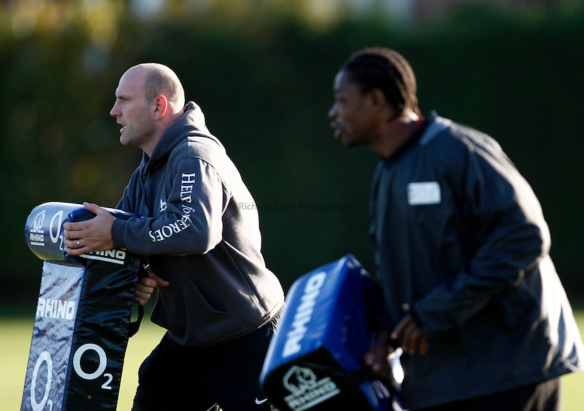 Photo: Richard Lane/Richard Lane Photography. Heroes Rugby Challenge in aid of Help for Heros North training at Wasps training ground, Twyford Avenue.  30/11/2011. Lawrence Dallaglio.