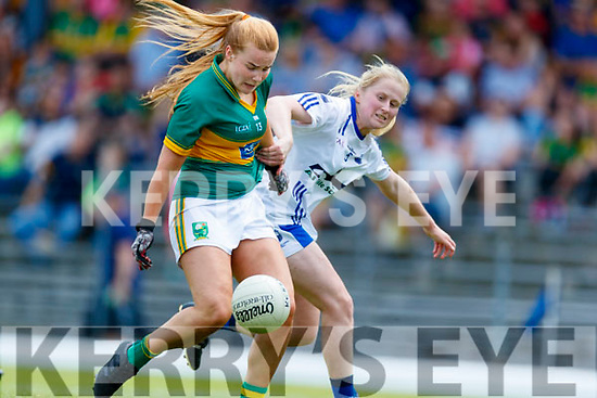 Andrea Murphy of Kerry scores a goal past Waterford defender Mairead Wall during the TG4 Munster Senior Ladies Football Championship semi-final match between Kerry and Waterford at Fitzgerald Stadium in Killarney on Sunday.