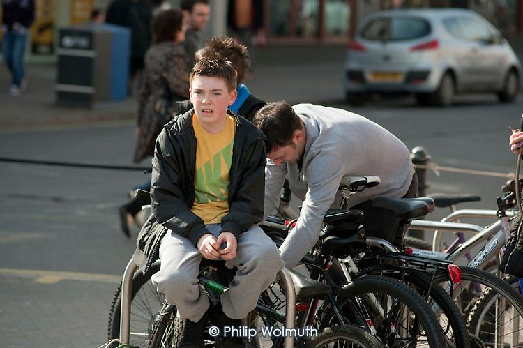 A teenage boy in Southend