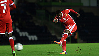 Kieran Agard of MK Dons takes a shot at the Forest Green Rovers goal during Forest Green Rovers vs MK Dons, Caraboa Cup Football at The New Lawn on 8th August 2017