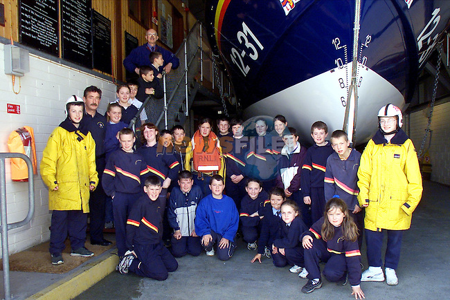 Students from Clogherhead NS pictured on their school trip toat Clogherhead lifeboat station..Picture: Arthur Carron/Newsfile