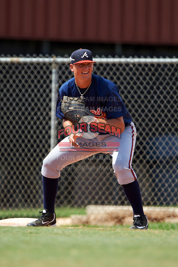 Atlanta Braves first baseman Griffin Benson (11) during an Instructional League game against the Houston Astros on September 26, 2016 at Osceola County Stadium Complex in Kissimmee, Florida.  (Mike Janes/Four Seam Images)