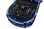 Car Stock 2017 Mercedes Benz SL-Class SL450 2 Door Convertible Engine  high angle detail view
